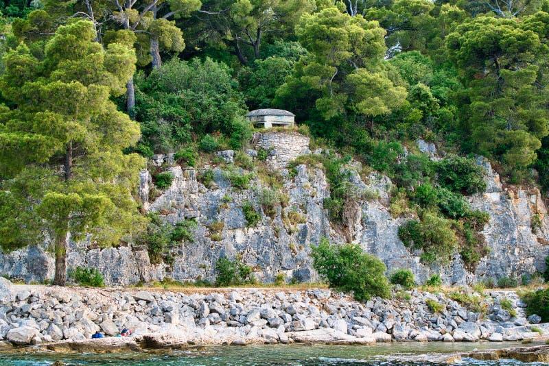 Bunkier w Rovinj, Chorwacja obraz royalty free