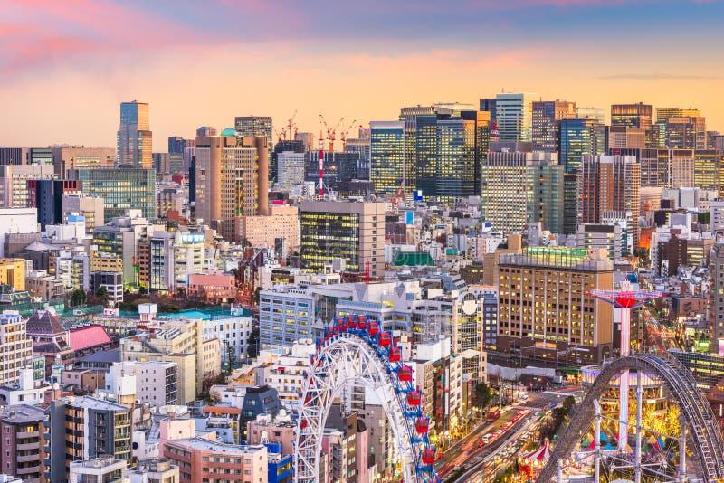 Bunkyo Ward, Tokyo, Japan Cityscape. Tokyo, Japan cityscape at dusk over Bunkyo Ward royalty free stock photos