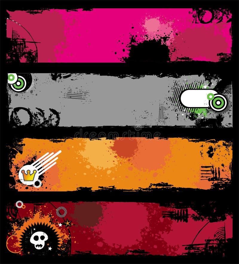 Bunners con estilo de Grunge libre illustration