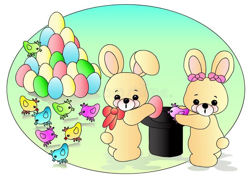 bunnies Πάσχα απεικόνιση αποθεμάτων