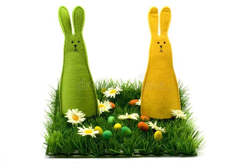 bunnies Πάσχα στοκ φωτογραφία με δικαίωμα ελεύθερης χρήσης