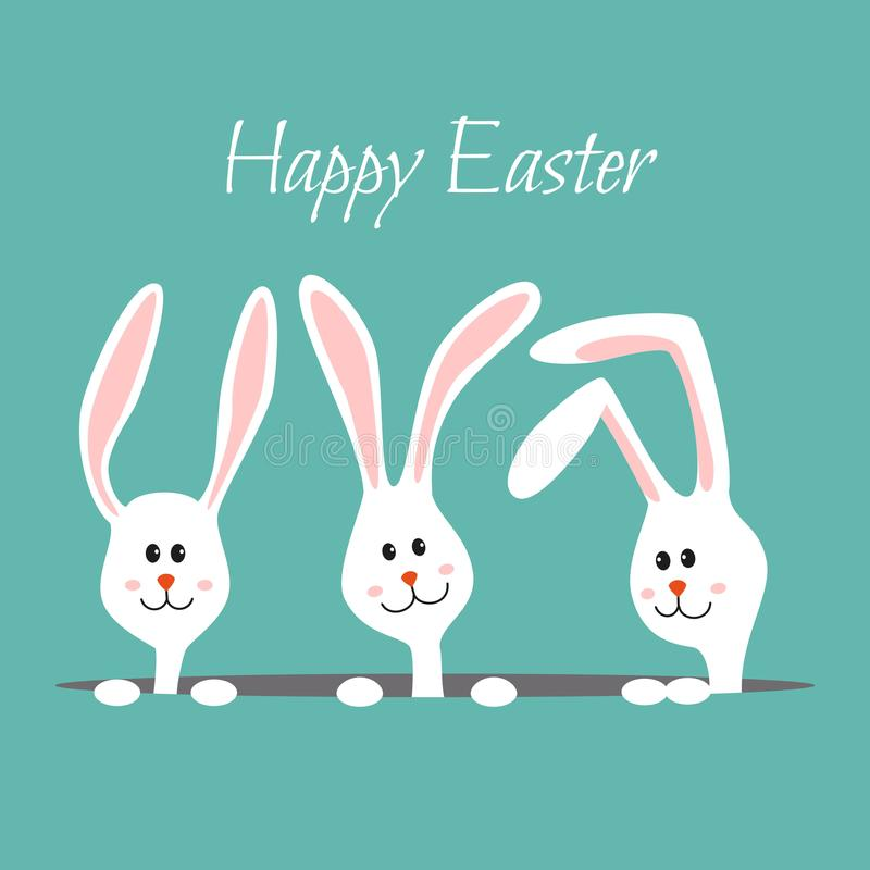 bunnies χαριτωμένα Σχέδιο για Πάσχα διανυσματική απεικόνιση