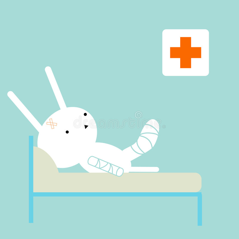 bunny άρρωστοι απεικόνιση αποθεμάτων