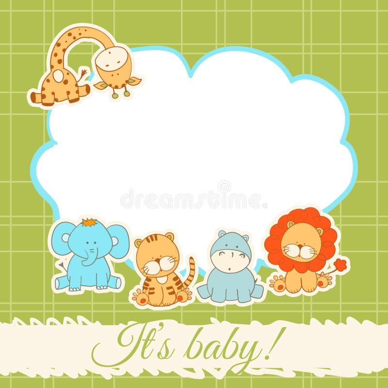 bunny ανασκόπησης μωρών χαριτωμένο floral κείμενο ντους καρτών στοκ φωτογραφία