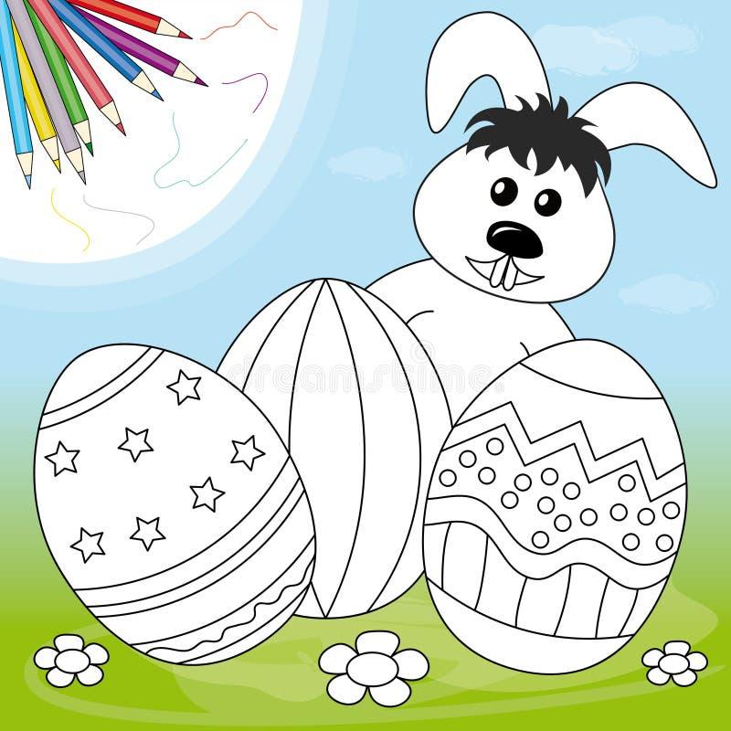 bunny αυγά Πάσχας διανυσματική απεικόνιση