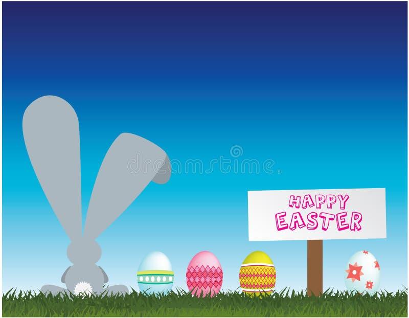 bunny αυγά Πάσχας απεικόνιση αποθεμάτων