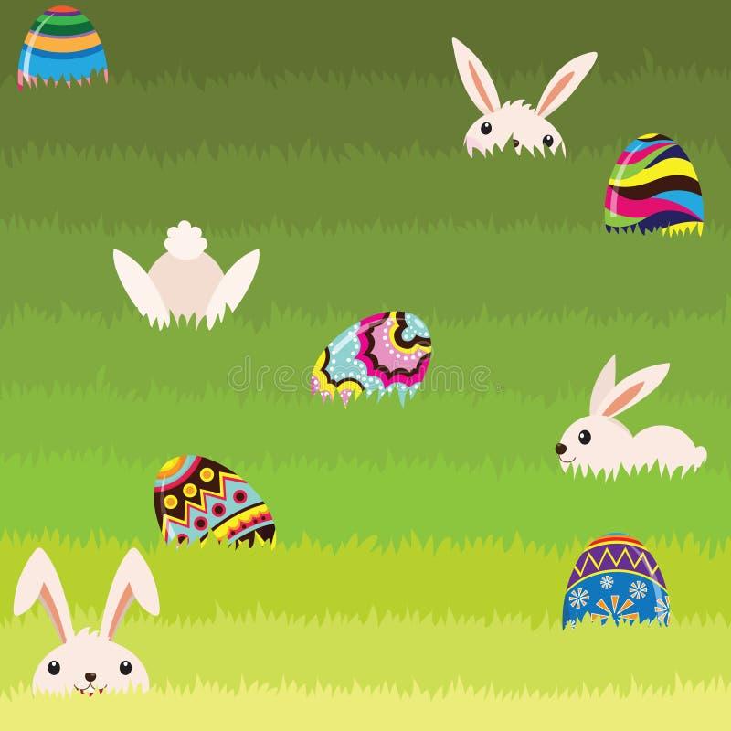 bunny αυγό Πάσχας που χρωματίζεται απεικόνιση αποθεμάτων
