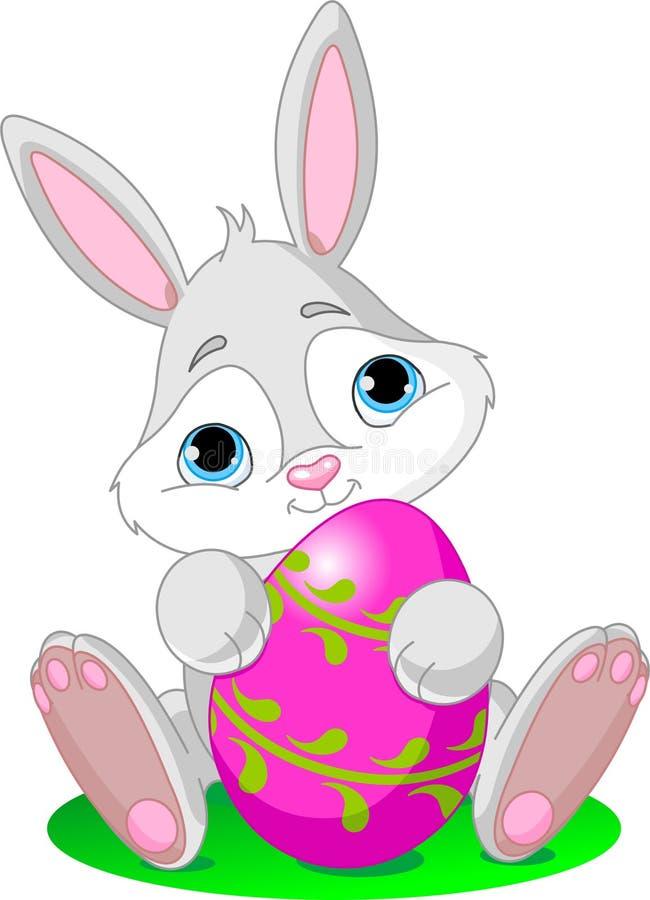 Download Bunny αυγό Πάσχας διανυσματική απεικόνιση. εικονογραφία από εύθυμος - 13182632