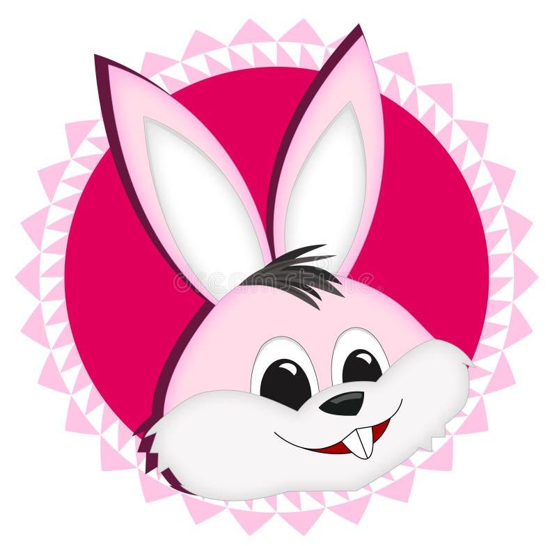 bunny αυτοκόλλητη ετικέττα διανυσματική απεικόνιση