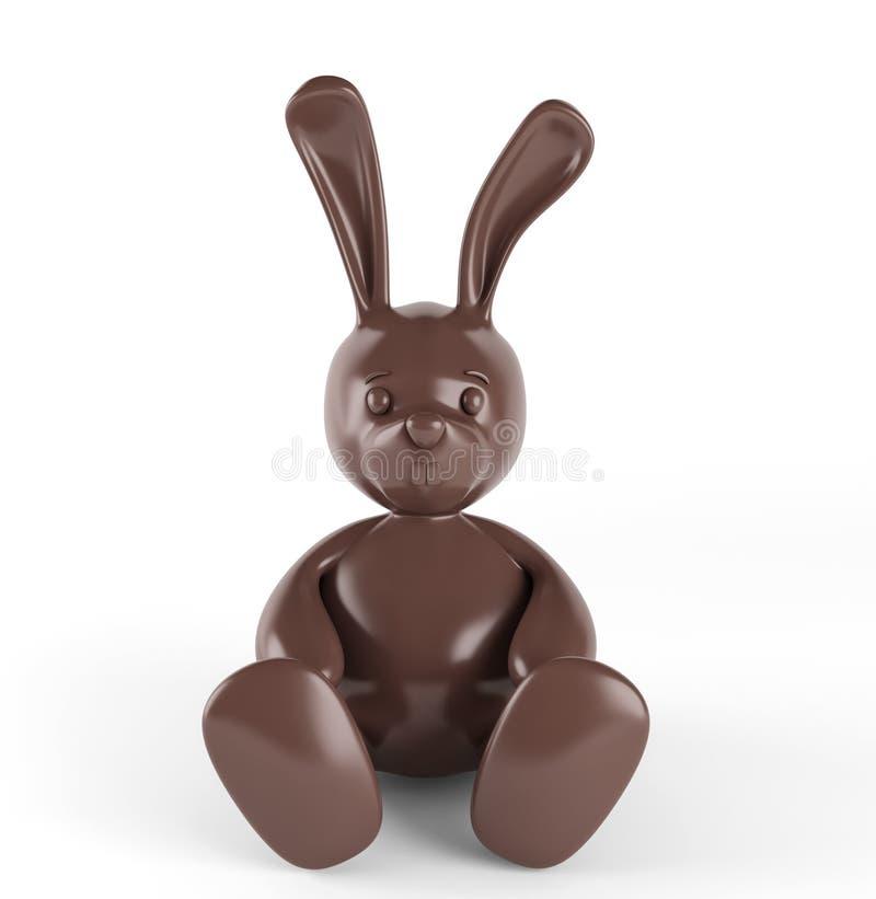 bunny γλυκός παραδοσιακός Πάσχας σοκολάτας τρισδιάστατος δώστε Απομονωμένος στο λευκό απεικόνιση αποθεμάτων