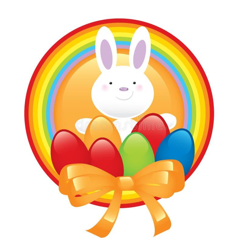 bunny ευτυχές σύμβολο Πάσχας ελεύθερη απεικόνιση δικαιώματος