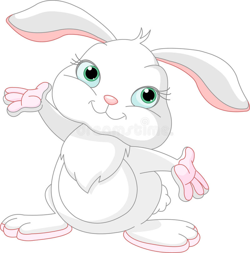 bunny ευτυχές απεικόνιση αποθεμάτων