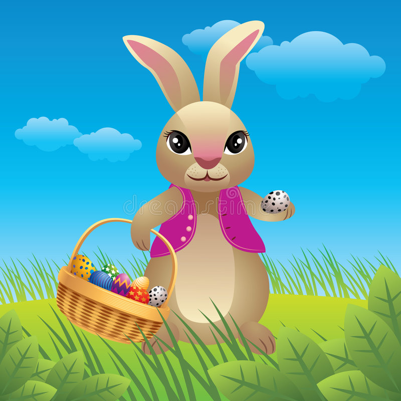 bunny κινούμενα σχέδια Πάσχα ελεύθερη απεικόνιση δικαιώματος