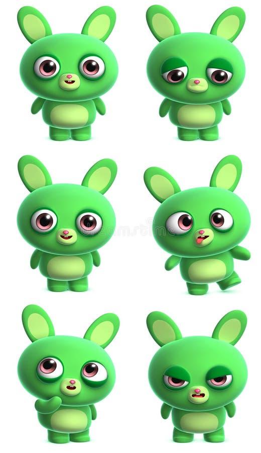 Bunny κινούμενων σχεδίων απεικόνιση αποθεμάτων