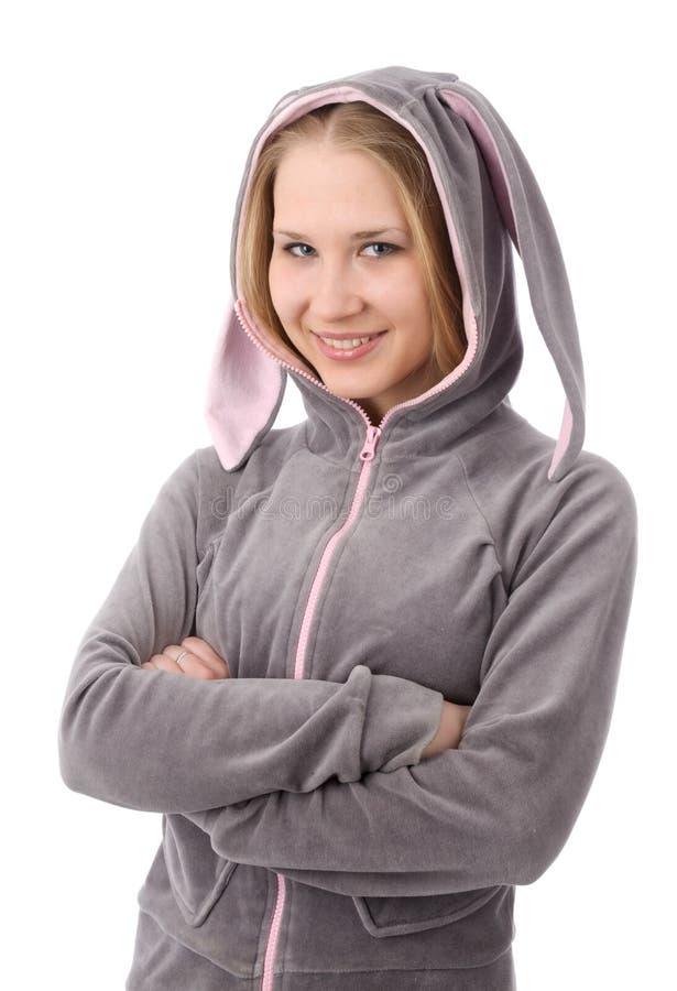 Download Bunny κορίτσι αυτιών στοκ εικόνα. εικόνα από μοντέλο - 13176443