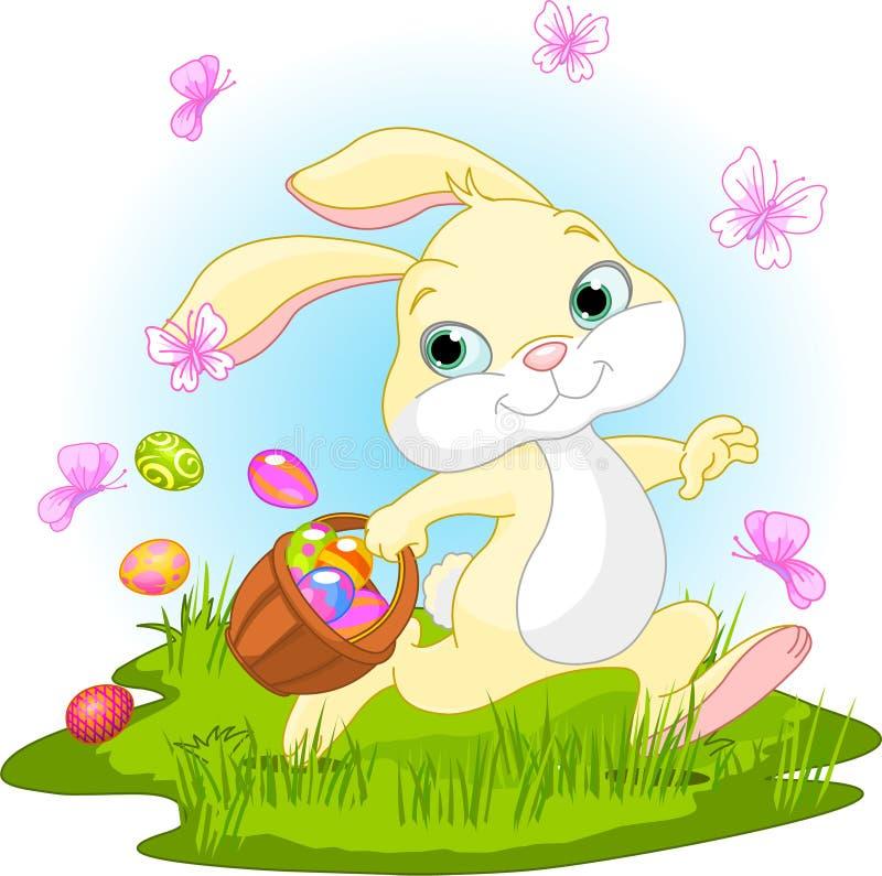 bunny κρύψιμο αυγών Πάσχας ελεύθερη απεικόνιση δικαιώματος