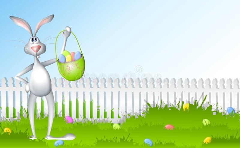 bunny κυνήγι αυγών Πάσχας ελεύθερη απεικόνιση δικαιώματος