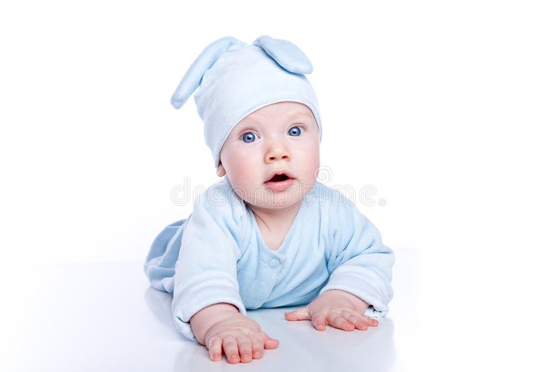 bunny μωρών φθορά κοστουμιών στοκ εικόνα