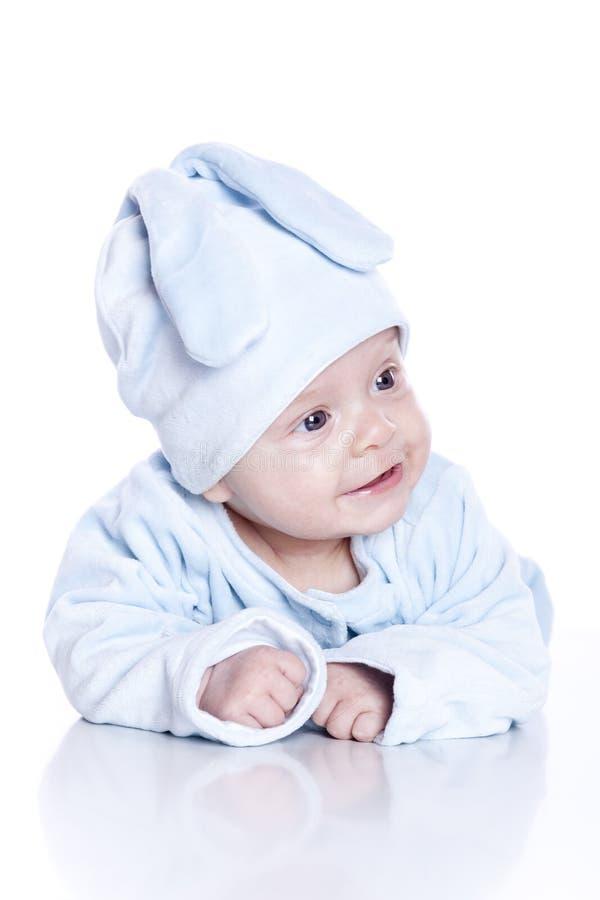 bunny μωρών φθορά κοστουμιών στοκ εικόνα με δικαίωμα ελεύθερης χρήσης