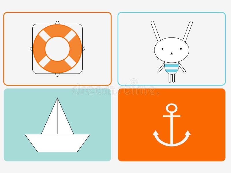 bunny ναυτικός απεικόνιση αποθεμάτων