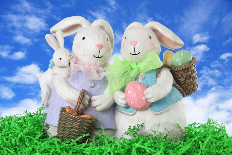 bunny οικογένεια Πάσχας στοκ εικόνα