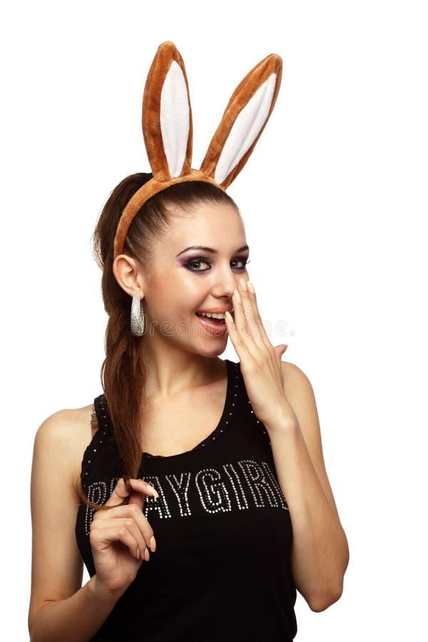bunny ομορφιάς αυτιά εύθυμα στοκ εικόνες με δικαίωμα ελεύθερης χρήσης