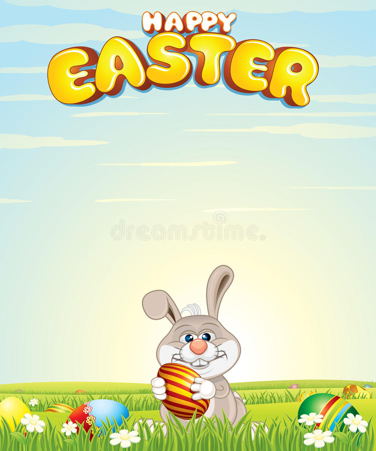 bunny Πάσχα ανασκόπησης ευτυ&chi απεικόνιση αποθεμάτων