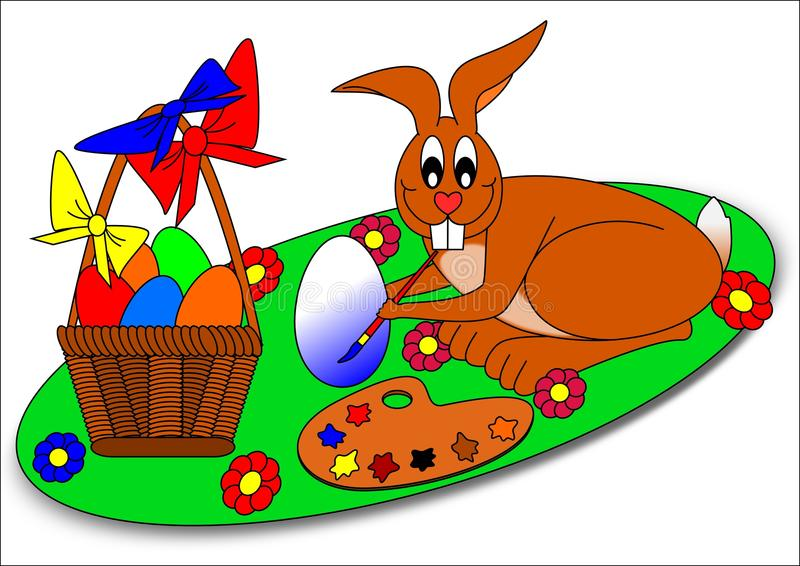 Download Bunny Πάσχα διανυσματική απεικόνιση. εικονογραφία από σχέδιο - 13183173