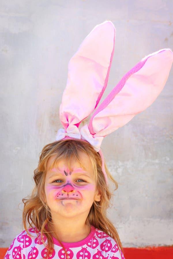 bunny παιδί Πάσχα facepaint στοκ εικόνες με δικαίωμα ελεύθερης χρήσης