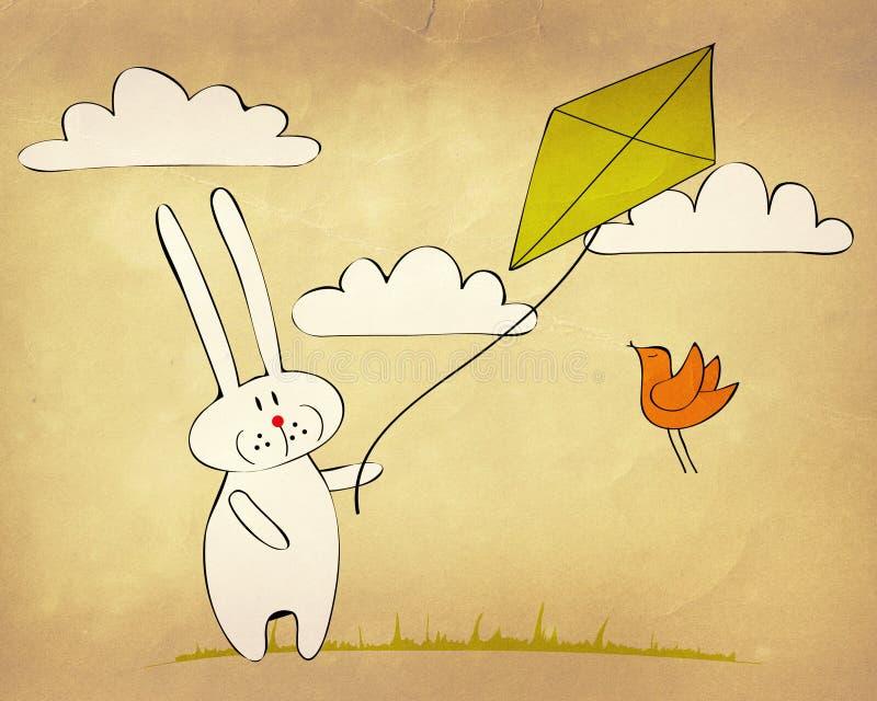 Bunny πετώντας ικτίνος Στοκ Εικόνες