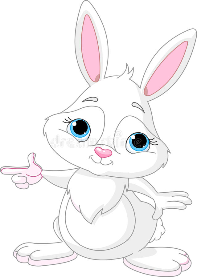 bunny υπόδειξη ελεύθερη απεικόνιση δικαιώματος