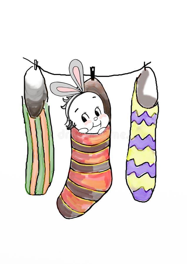 Download Bunny Χριστούγεννα απεικόνιση αποθεμάτων. εικονογραφία από χαρά - 17052836