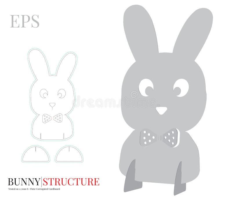 Bunny Boy Template, vecteur avec découpé/laser avec des matrices a coupé des couches Symbole de P illustration libre de droits