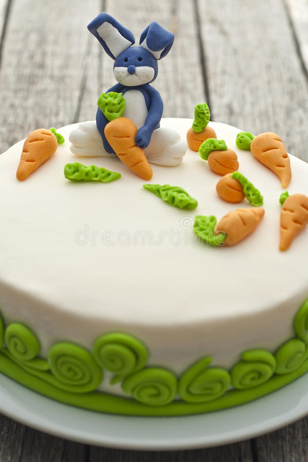 Download Bunny cake stock image. Image of birthday, carrot, child - 24240825