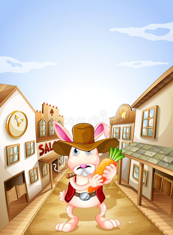 Download A bunny with a carrot stock vector. Image of illustration - 31791611