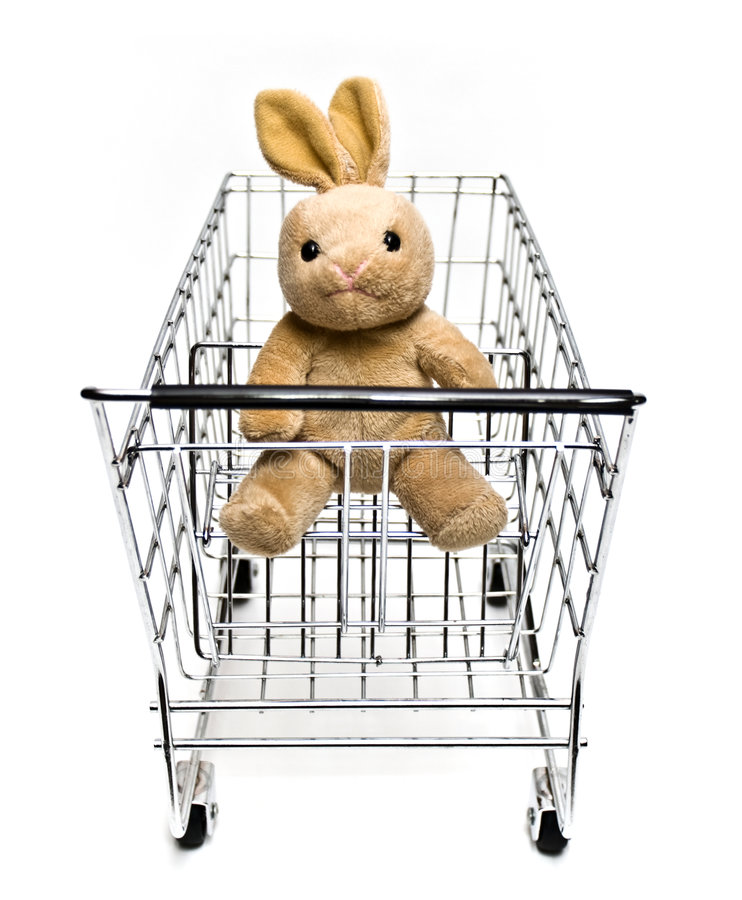 Download Bunny in Cart stock photo. Image of object, colour, holding - 7877956