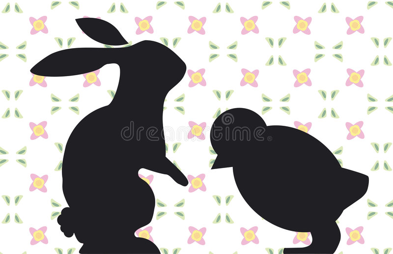 Download Bunny and Chick stock vector. Illustration of bunny, symbolic - 680413