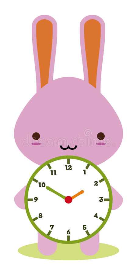 Download Bunny Clock Stock Image - Image: 17420451