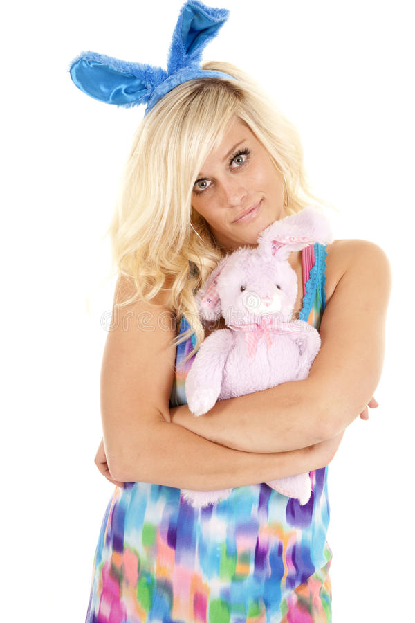 Download Bunny cuddle stock image. Image of holding, person, joyful - 24373537