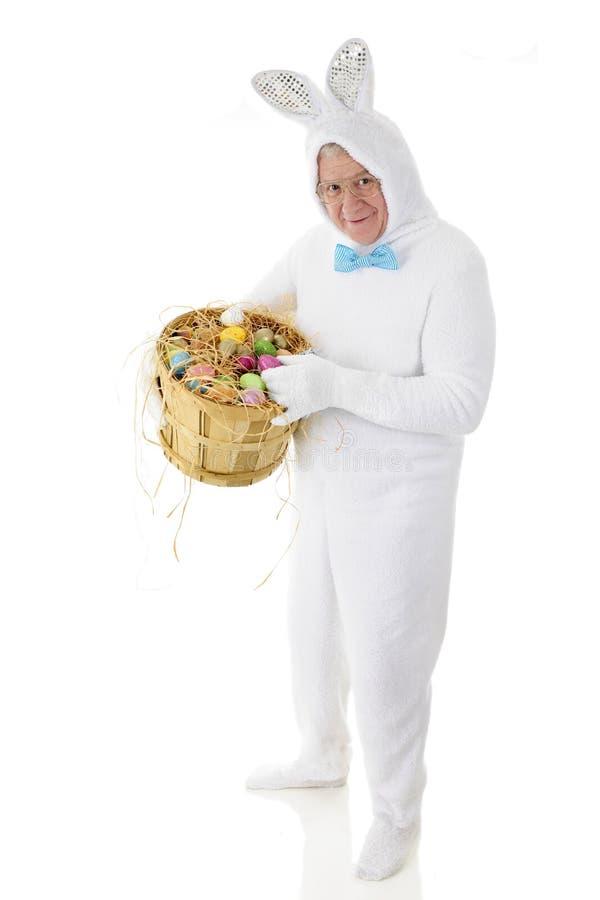 Bunny Displaying His Eggs mayor fotos de archivo libres de regalías