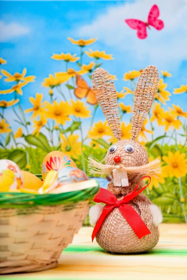 Bunny easter. And spring background royalty free stock images