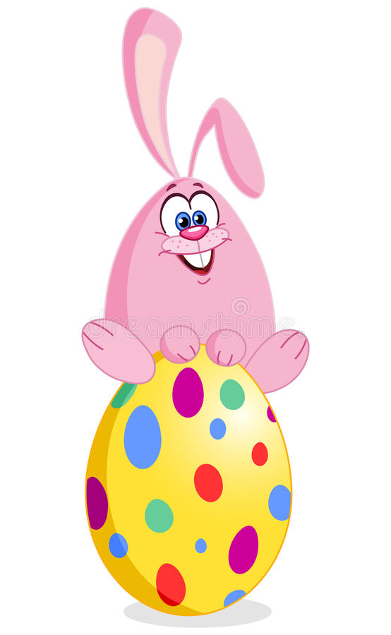 Download Bunny on easter egg stock vector. Image of celebrate - 19160203