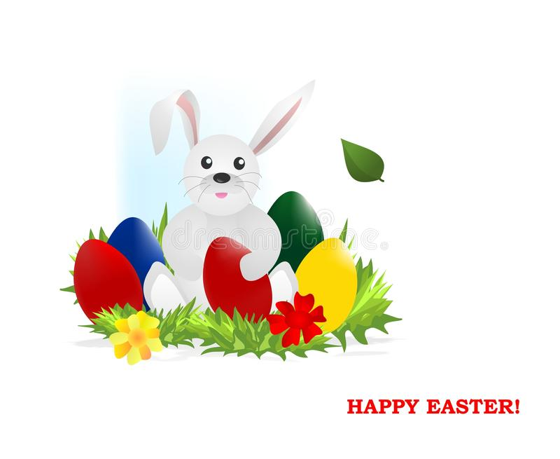 Bunny with easter eggs, cdr vector stock photos