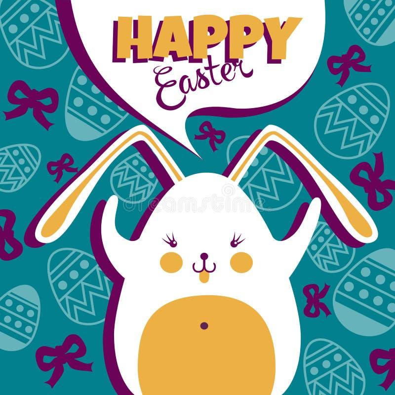 bunny Easter feliz ilustração royalty free