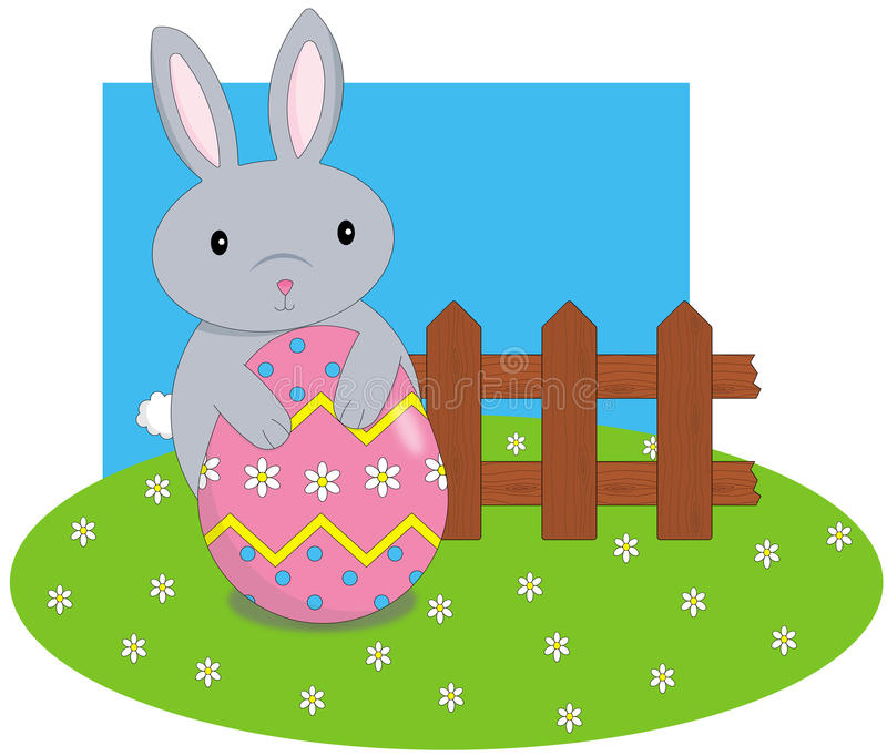 Bunny with egg royalty free stock photo