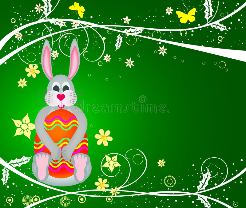 Download Bunny With Egg - Vector Royalty Free Stock Photos - Image: 4206748
