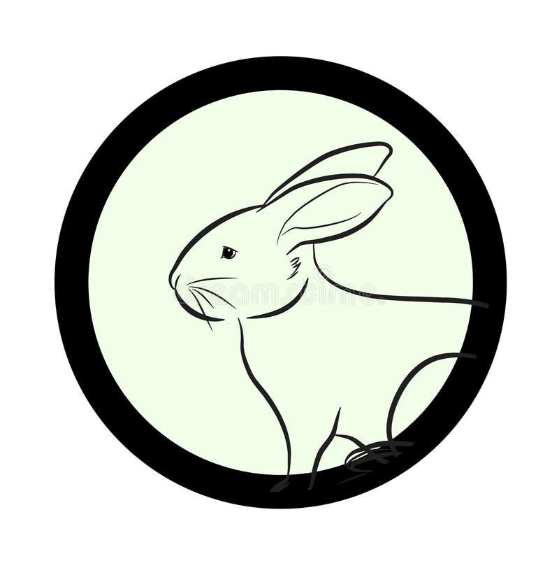 Bunny Face Drawing Closeup Vector illustration de vecteur
