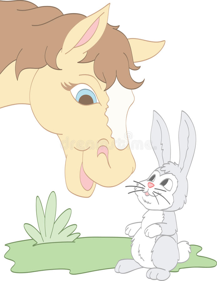 Bunny Friend illustrazione di stock