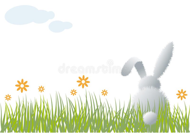 Download Bunny in grass, stock vector. Illustration of abstract - 18509069