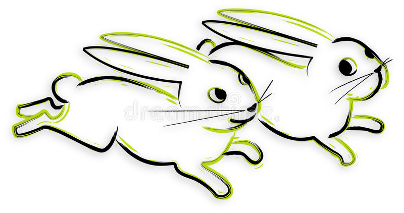 Download Bunny - hand drawn stock vector. Illustration of silhouette - 4261234